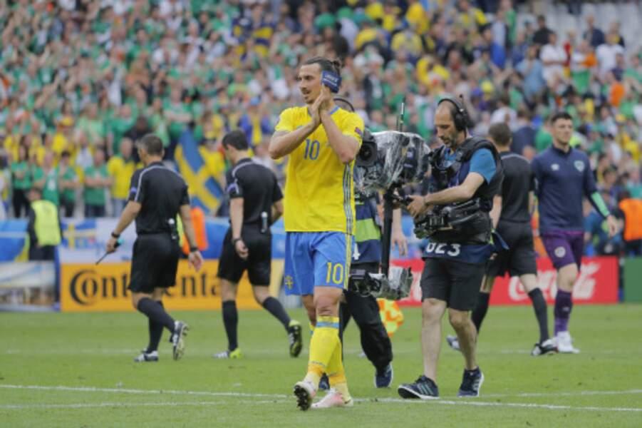Malgré ce petit match, et le score, Zlatan semble content