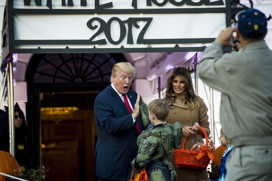 Un joli moment à la Maison Blanche pour Melania et Donald Trump