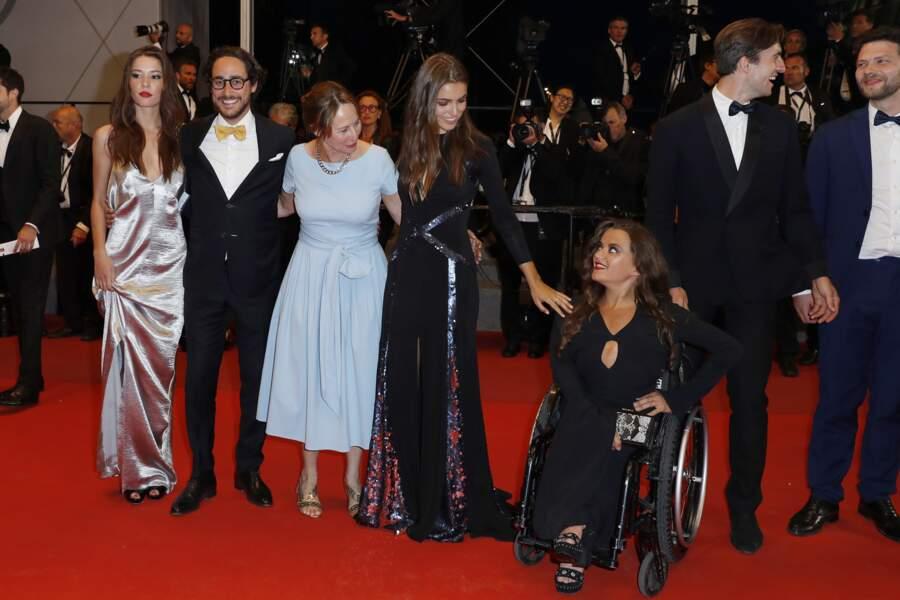 Ségolène Royal, son fils Thomas Hollande,sa compagne Emilie Broussouloux au festival de Cannes
