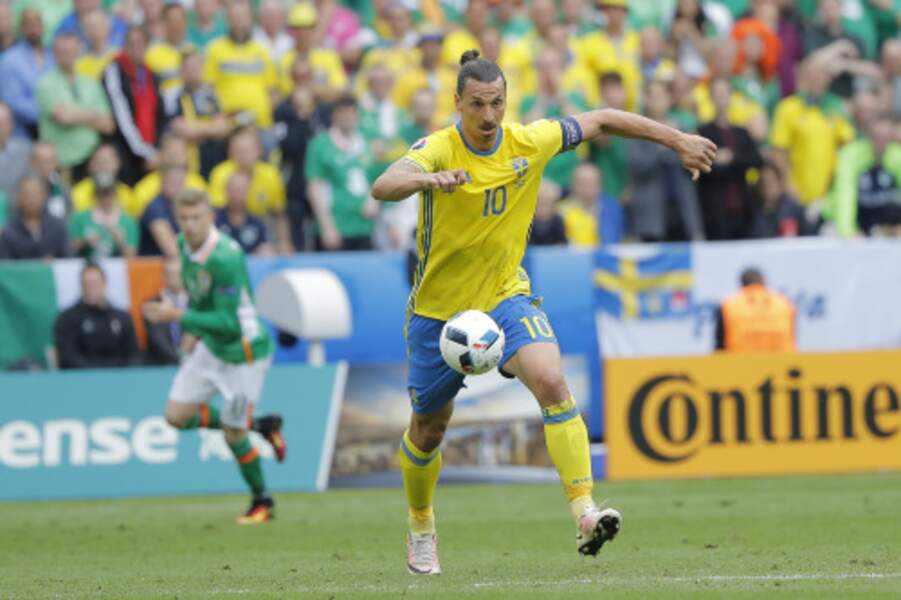 Zlatan Ibrahimovic retrouvait la pelouse du Stade de France ce lundi, pour le match Irlande-Suède
