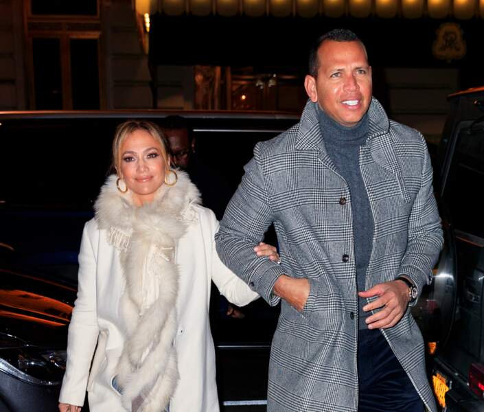 Jennifer Lopez et Alex Rodriguez, dîner en amoureux à New York
