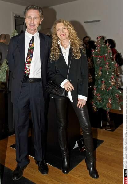 2012. Thierry Lhermitte et sa femme à  l'hôtel Salomon de Rothschild.