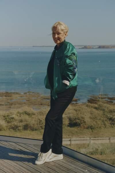 Emmanuelle Bercot avec un joli chignon blond  signé Franck Provost