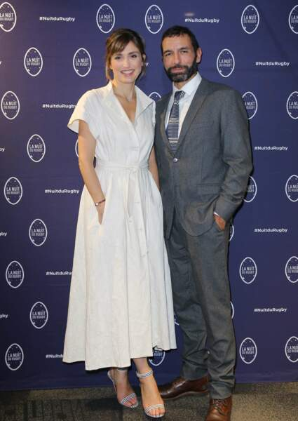 Julie Gayet avec Olivier Loustau, lors de la Nuit du Rugby