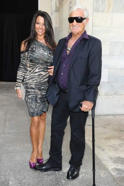 Jean-Paul Belmondo et Barbara Gandolfi en 2012