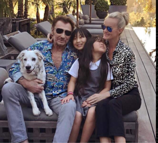 Johnny en famille à Los Angeles