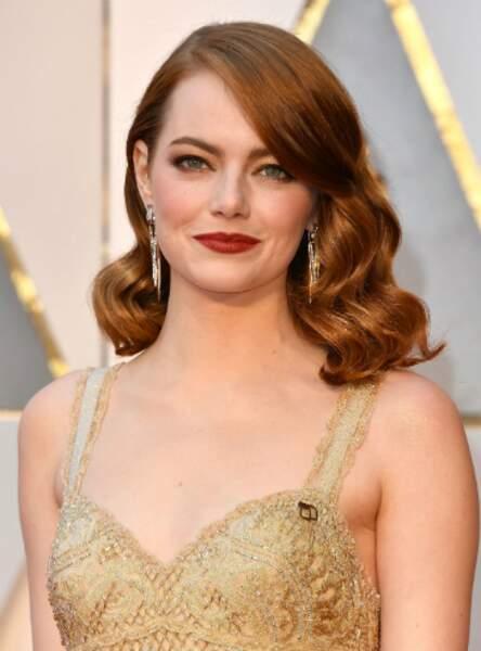 Le carré ultra glamour d'Emma Stone