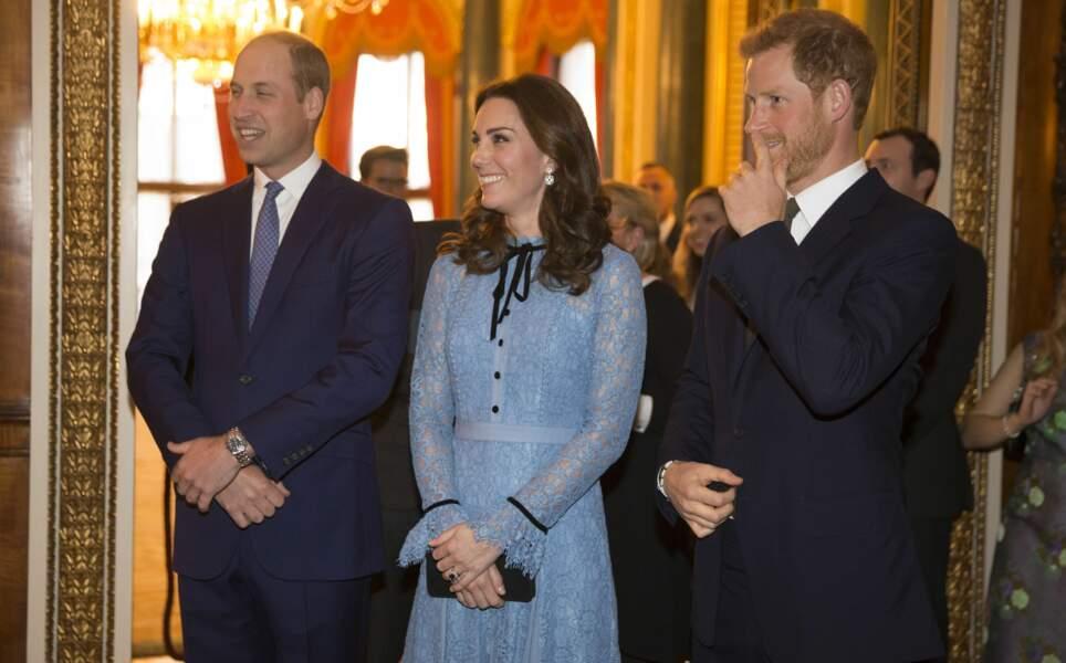 Le prince William, Kate Middleton et le prince Harry