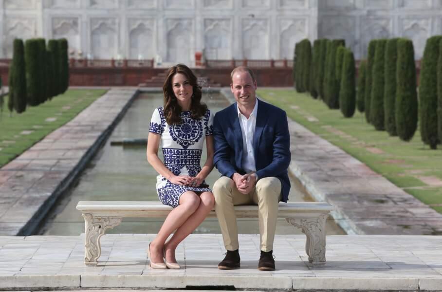 Kate & William dans les jardins du Taj Mahal - Inde - ABACA