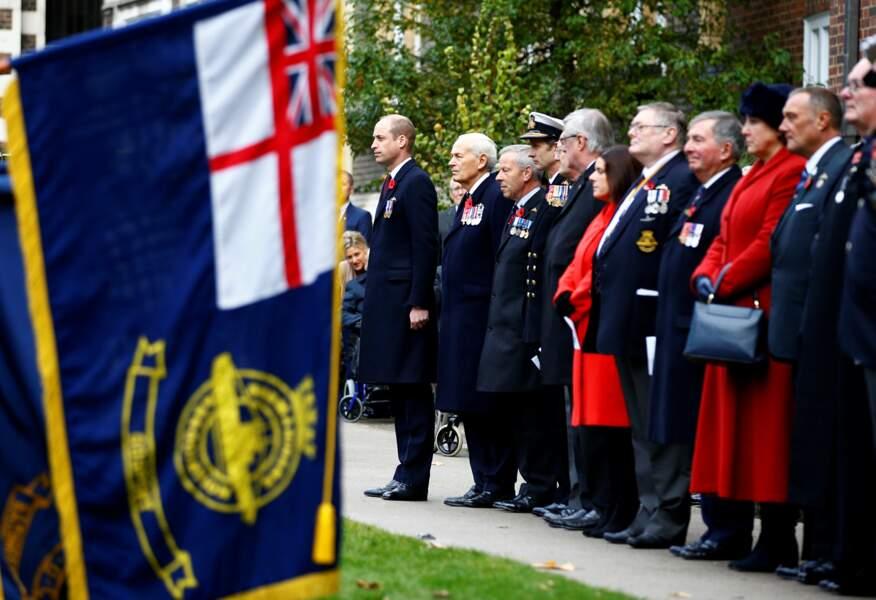 Le prince William, duc de Cambridge participe à une cérémonie à la mémoire des sous-mariniers à Londres