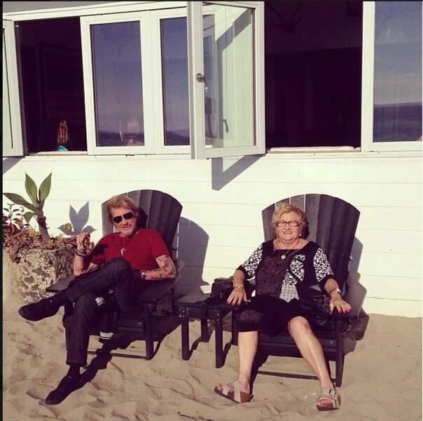 "Avec ""Mamie rock"". Novembre 2013"