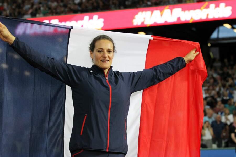 Avec son dernier lancé à 66,21m, Mélina Robert-Michon a effectué le troisième meilleur lancé de sa carrière