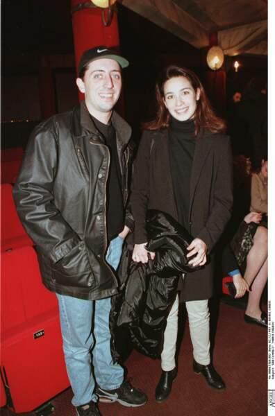 Gad Elmaleh se présente avec Marie Fugain au théâtre de la Gaité Montparnasse en 1997