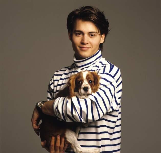 Johnny Depp en 1988, à New York