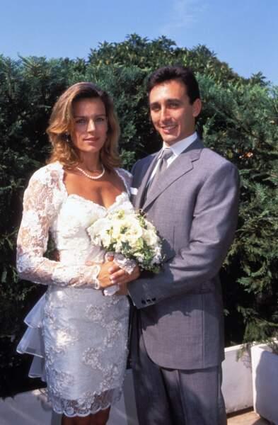 Stéphanie de Monaco lors de son mariage avec Daniel Ducruet en 1995 à Monaco