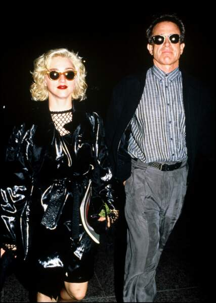 Madonna et Warren Beatty en 1990