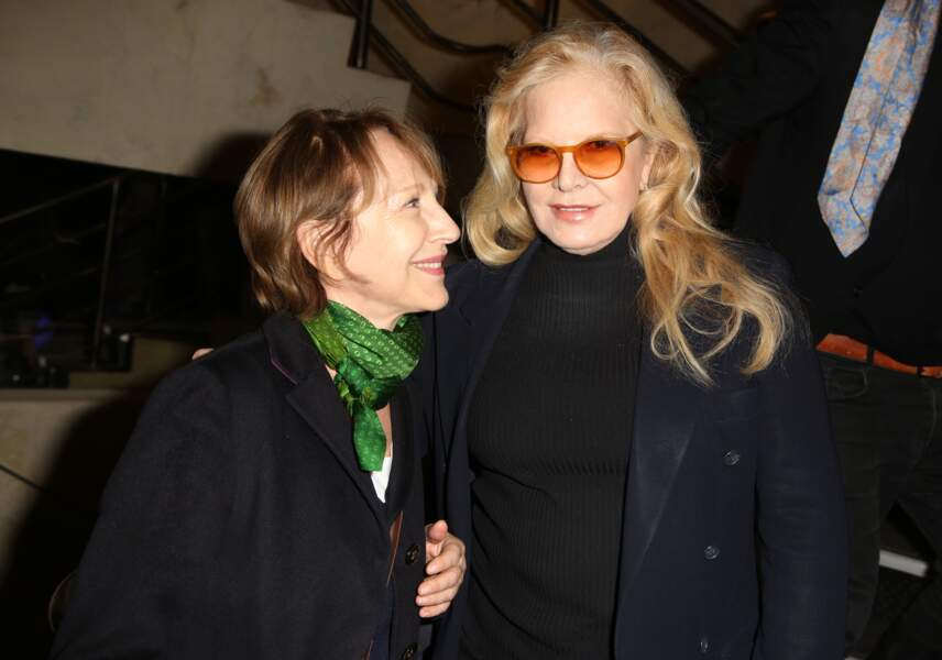 Nathalie Baye et Sylvie Vartan, anciennes compagne et épouse de Johnny Hallyday