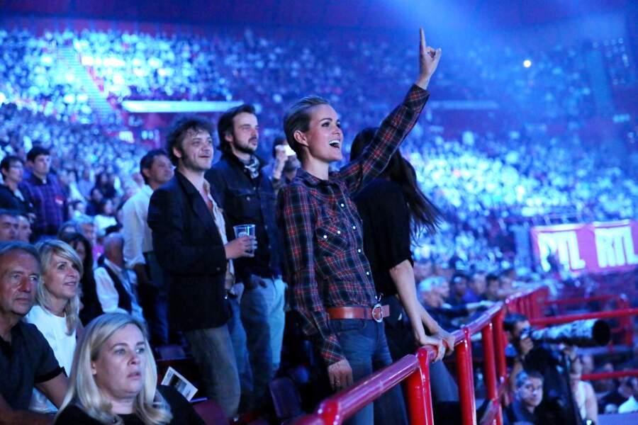Laeticia Hallyday au concert de Johnny Hallyday à Bercy le 14 juin 2013