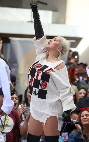 """Christina Aguilera en concert à l'occasion du """"Today Show"""" à New York le 15 juin 2018"""