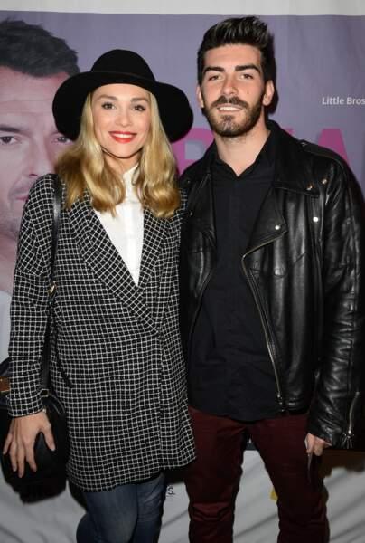 Joy Esther et son compagnon Andrea Condorelli à l'Alhambra à Paris en novembre 2014