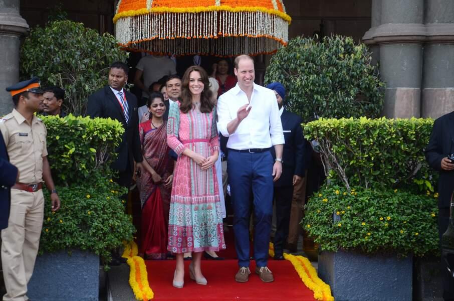Kate & William après leur visite du Taj Mahal - Inde - ABACA