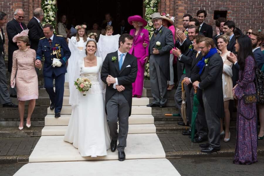 La princesse Alix de Ligne et Guillaume de Dampierre se sont mariés en Belgique, le 18 juin 2016