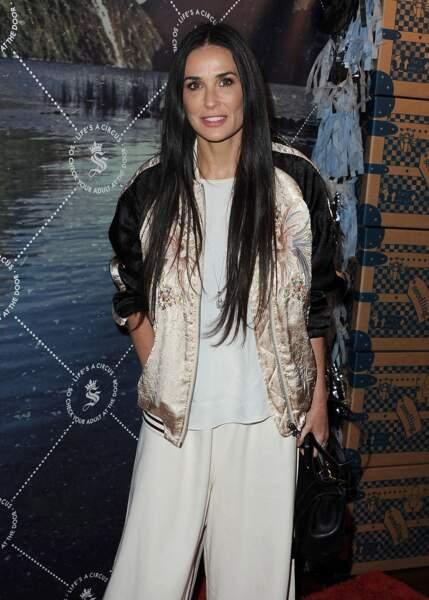Demi Moore lors d'une soirée à Los Angeles en Mai 2015