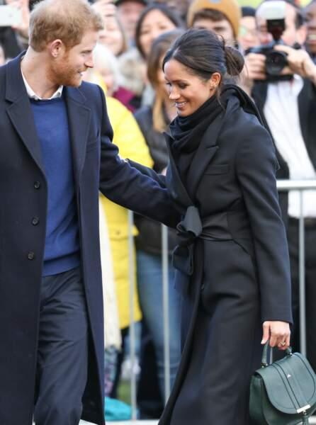 Le prince Harry et Meghan Markle en visite au château de Cardiff, le 18 janvier 2018