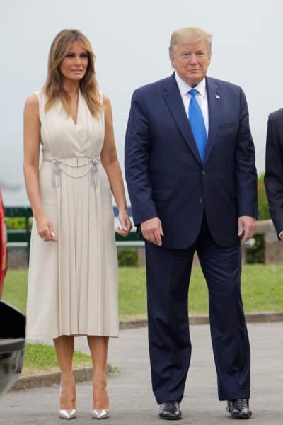 Le couple Trump, toujours aussi peu tactile