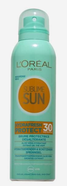 Sublime Sun Brume Protectrice Désaltérante SPF 30, L'Oréal Paris, 14 €