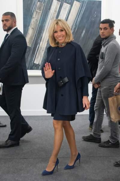 Brigitte Macron à Paris le 18 octobre