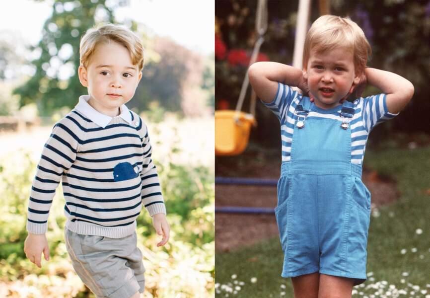 George et William au même âge