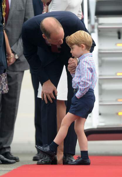 Résultat, le prince George fait la tête.