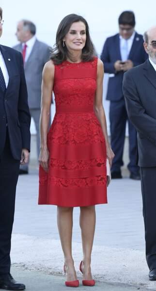 La reine Letizia d'Espagne assiste à l'inauguration du Centre mondial de l'alimentation urbaine durable de Valence