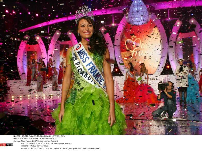 La Picarde Rachel Legrain-Trapani, gagnante de l'élection Miss France 2007, en décembre 2006.