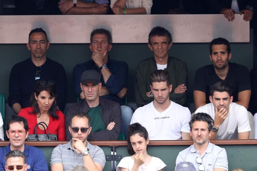 Zinédine Zidane, sa femme Véronique et leurs fils Luca et Enzo
