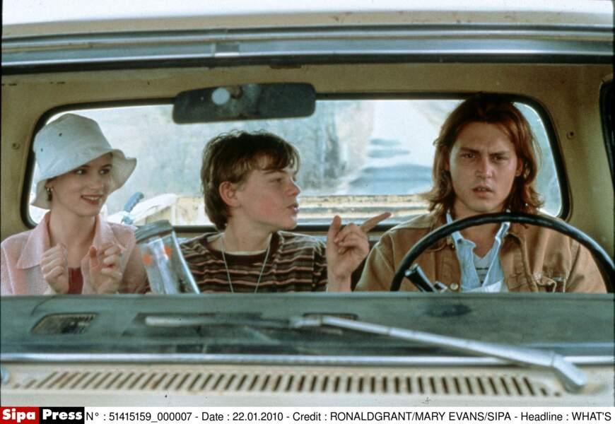 """Avec Juliette Lewis et Leonardo DiCaprio dans """"Gilbert Grape"""" (1993)"""
