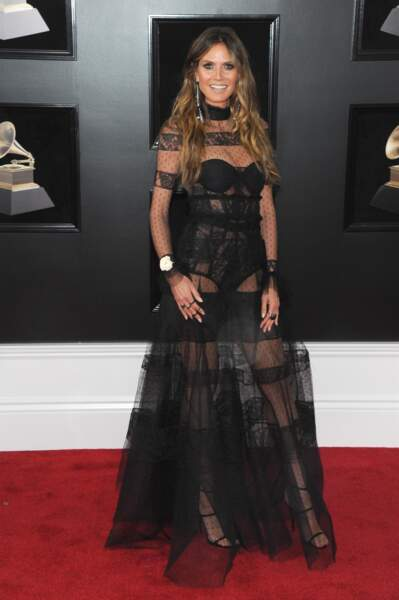 Heidi Klum à la 60ème soirée annuelle des Grammy Awards à Madison Square Garden