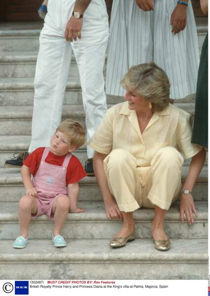 Diana et Harry en vacances en Espagne en 1987