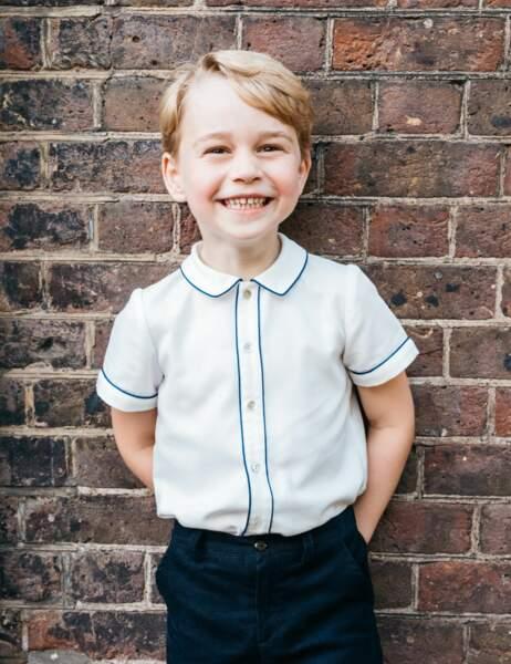 George, 5 ans depuis le 22 juillet... et futur roi d'Angleterre.