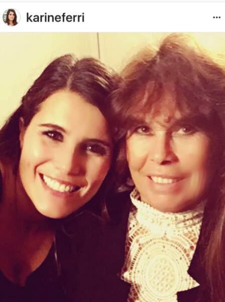 Karine Ferri et sa maman