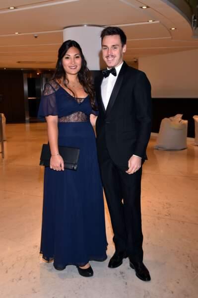 Louis Ducruet et sa fiancée Marie pendant la 15ème édition des Golden Foot Hublot Award à Monaco le 7 novembre