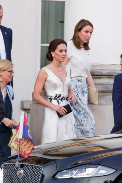 Kate Middleton le 18 juillet 2017 à Varsovie en Pologne