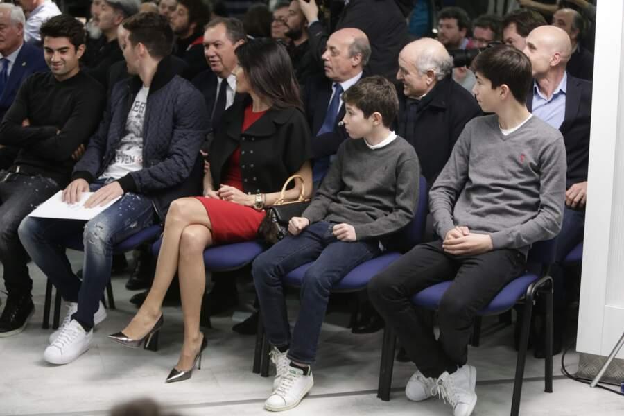 Zinedine Zidane, sa femme Veronique, et de leurs quatre enfants Enzo, Luca, Elyaz et Théo.