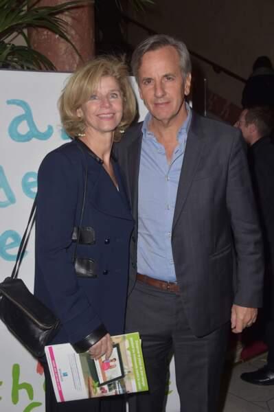 Bernard de la Villardière, souriant et accompagné d'Anne de Sauvignac en 2016