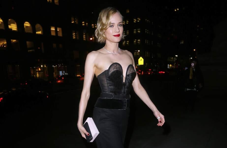 Diane Kruger arrive au dîner de gala Montblanc & Unicef à la New York Public Library