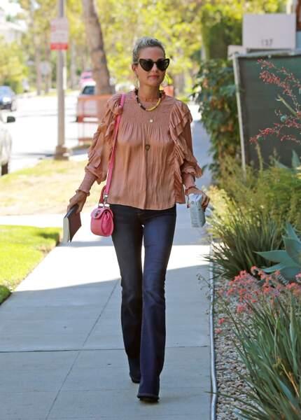 Laeticia Hallyday à Los Angeles