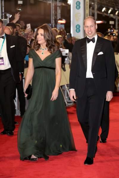 Kate Middleton et le prince William le 18 février 2018