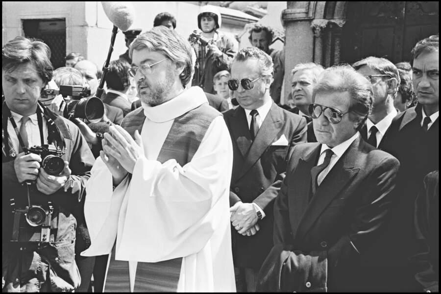 Orlando aux obsèques de Dalida au cimetière de Montmartre le 6 mai 1987