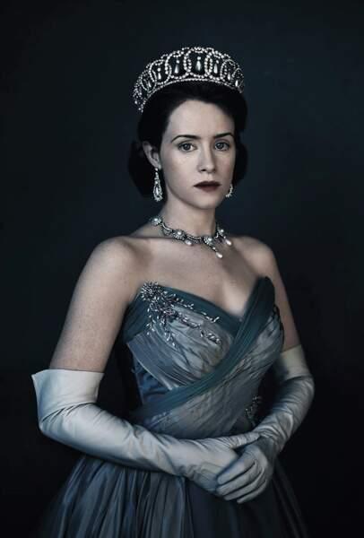 Claire Foy dans le rôle de la reine Elizabeth II dans la série The Crown (Netflix)
